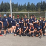 Our staff participating in the Peninsula Community Foundation charitable softball tournament