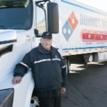 photo de Domino's, CDL driver...enjoying the new Volvo truck!