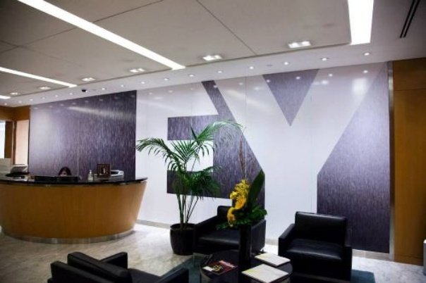 A conference floor in an EY building