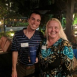 Recruiter Matt and his traveler Helena at the South Florida meet and greet!