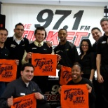 Store event with 97.1 The Ticket and the Detroit Tigers