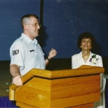 Speaking at retirement ceremony.