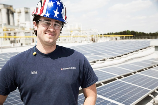 Solar panels help power our Atlanta, GA Factory