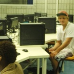 Computers doing research in the Computer Lab