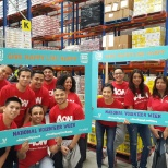 Aon photo: Aon Colleagues Foodbank