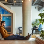 A quiet spot for independent work at Shopify's headquarters in Ottawa