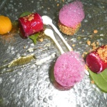 Smoked Beetroot Ravioli with Beet Air