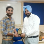 HDFC Bank photo: Best in training Exam.