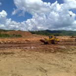 Early stages of the Tailings Storage dam.