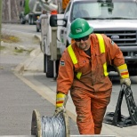 Utility Lineman working in Atlantic Canada