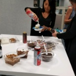 National Healthcare Recruiter Recognition Day ice cream social at the office!