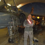 in Kandahar helping the French Aircraft Mechanics change an Engine on a mirage fighter jet