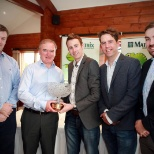 Shane with the winners of the Matrix Accountancy Golf Tournament