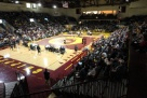 Central Michigan University Wrestling home dual in which they defeated The University of Michigan