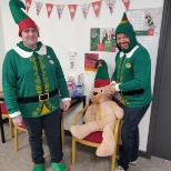 Elf day in the office ! raising money for dementia awareness.