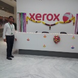 Xerox photo: Me and my company name and logo