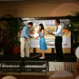 Receiving my best employee award in Administrative Category