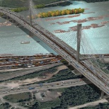Lafarge provided the precast segments and concrete for the Port Mann Bridge.
