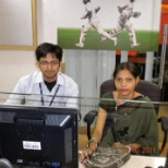 EXL photo: on family day in office