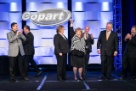 One of our Annual Employee Award Winners along with members of Copart's Senior Leadership Team.
