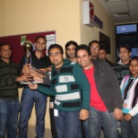 Fiserv photo: Associates celebrate victory in a cricket tournament