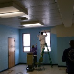 Rivers Casino photo: Rivers Casino Community Champions - Team Members Painting at LifeWorks Center - Feb 17