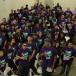 Employees in the California Distribution Center celebrate the L&R Way Rollout Event