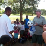 Teaching kids in Africa - all smiles!