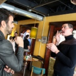 Chris Soukup, CEO, explains his vision of the future to Nyle DiMarco during a recent CSD Vision 2 fi