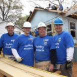 Our employees volunteering at Habitat for Humanity
