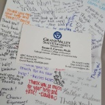 Grand Rapids Public Schools photo: Thank you card from partnering agency, GVSU