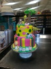 My Two tier fondant animal theme babyshower cake done by me cindy