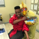 A visit from the Easter Rooster. Never a dull moment at Mango5.