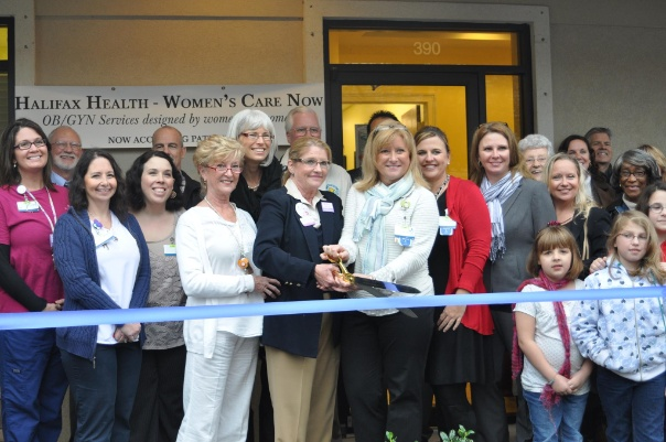 Ribbon cutting ceremony for our Women's Care Now in Ormond Beach