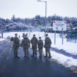 Me and RLC 400 Troop clearing the snow off the roads when we had the snow 2018