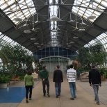 Pierce Washington photo: After volunteering at the Garfield Park Conservatory, the team were taken on a tour.
