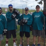 Pinchin's Road Hockey Team in support of YMCA Strong Kids Campaign.