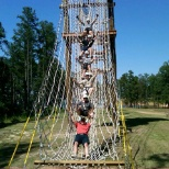 CPE class on ropes course