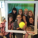 New Balance photo: Associates participating in an office scavenger hunt