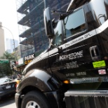 Keystone Freight driver makes his way into the city to do his daily run.