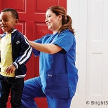 BrightStar Care care professionals can provide child care in the home