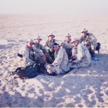 My Marines and I eating lunch at a fine restaurant in Kuwait.