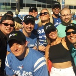 The Toronto Team at a Blue Jay's Game