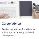 Get career advice from Hays  https://www.hays.com.au/career-advice