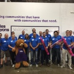 Olympus Corporation of the Americas photo: Our Regional Vice President of Energy Sales took his team to a Day of Caring at Cradles to Crayons.