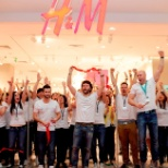 Grand Opening H&M Bulgaria.(I cut the tape)