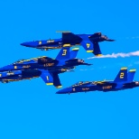 Blue Angels Performing at 2015 Sea & Sky Spectacular
