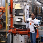 Snapshot of our robotics and one of our Flexible Workforce members at the Pilgrim Rd facility