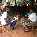 Oxfam photo: Collecte des donnees pour l'evaluation post-distribution du projet PAM
