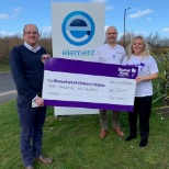 photo of Element Materials Technology, Sheffield Laboratories have raised £1200 for the local charity Bluebell Wood Children's Hospice.